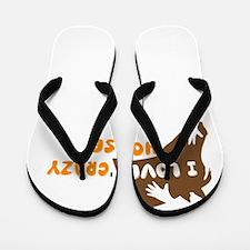 i love crazy horse Flip Flops