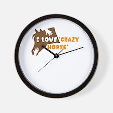 i love crazy horse Wall Clock