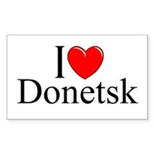 """I Love Donetsk"" Rectangle Decal"