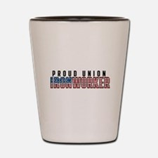 Union Ironworker Shot Glass