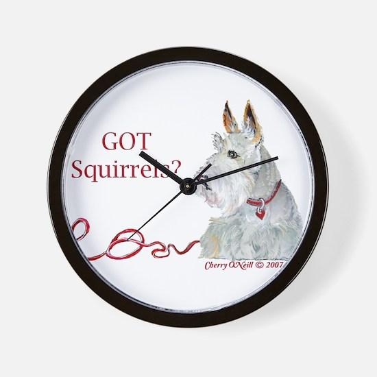 Wheatie Scottie Squirrels Wall Clock