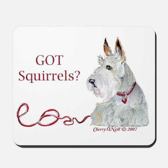 Wheatie Scottie Squirrels Mousepad