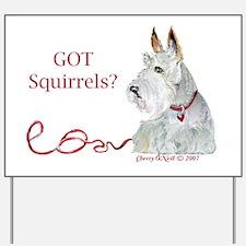 Wheatie Scottie Squirrels Yard Sign
