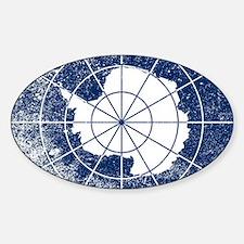 Funny Map pixel art artwork Sticker (Oval)