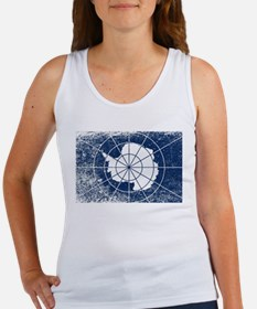 Flag of Antarctica Grunge Tank Top