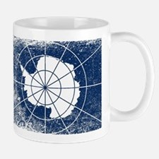 Flag of Antarctica Grunge Mugs