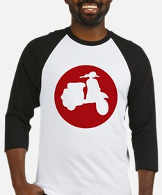 Red Scooter Dot Baseball Jersey