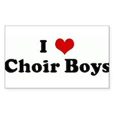 I Love Choir Boys Rectangle Decal