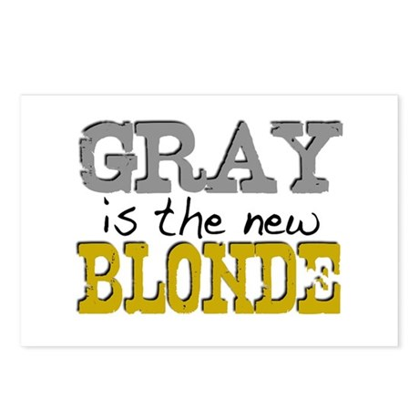 Gray is the new Blonde Postcards (Package of 8)