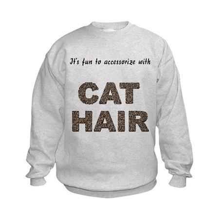 Accessorize With Cat Hair Kids Sweatshirt