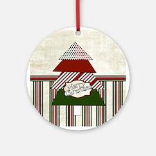 Retro Christmas Round Ornament