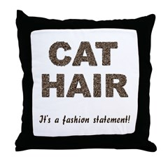 Cat Hair Fashion Throw Pillow