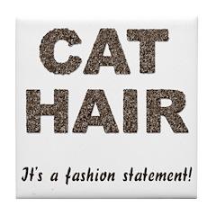 Cat Hair Fashion Tile Coaster