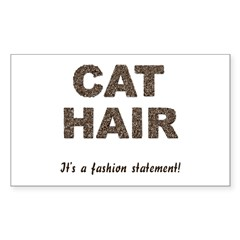Cat Hair Fashion Rectangle Decal