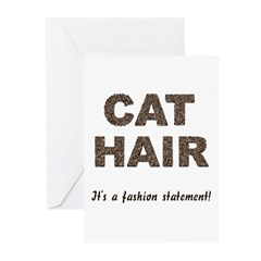 Cat Hair Fashion Greeting Cards (Pk of 10)