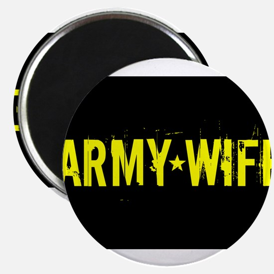 U.S. Army: Wife (Black & Gold) Magnets