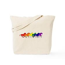 Horses Running Wild Tote Bag
