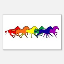 Horses Running Wild Rectangle Decal