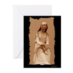 New Orleans cemetery statue Greeting Cards (Packag