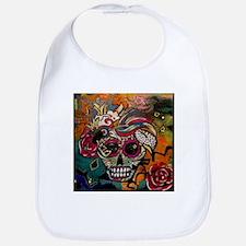 Sugar Skull Day of the Dead Artsy Original Art Bib