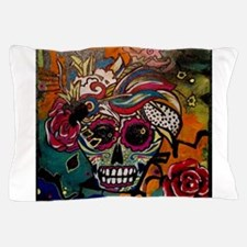 Sugar Skull Day of the Dead Artsy Orig Pillow Case