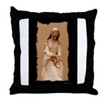 New Orleans cemetery statue Throw Pillow