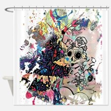 Sugar Skull Day of the Dead Artsy O Shower Curtain