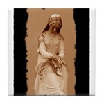 New Orleans cemetery statue Tile Coaster