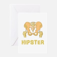 Hipster Hip Bone Greeting Card