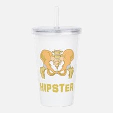 Hipster Hip Bone Acrylic Double-wall Tumbler