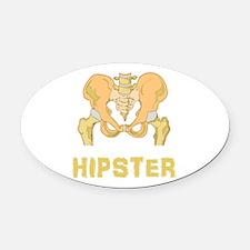 Hipster Hip Bone Oval Car Magnet