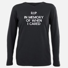 Cute Dont care Plus Size Long Sleeve Tee