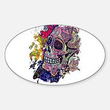 Sugar Skull Day of the Dead Artsy Original Decal