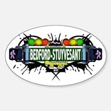Bedford-Stuyvesant (White) Oval Decal