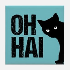 Oh Hai Cat Tile Coaster