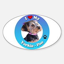 Cute Yorkie poo Sticker (Oval)