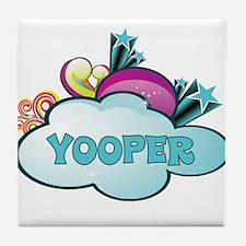 Retro Yooper Tile Coaster