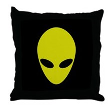 Throw Pillow - Green Alien