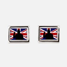 Winston Churchill Victory Rectangular Cufflinks