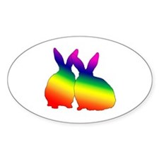Bunny Love Oval Decal