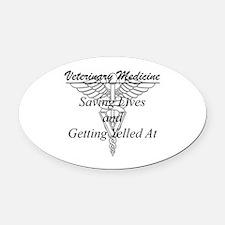 Defining Veterinary Medicine Oval Car Magnet