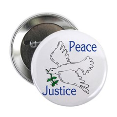 Peace and Justice Dove Button (10 pack)