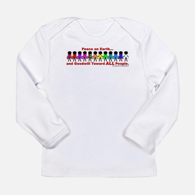 Peace On Earth (Line) Long Sleeve T-Shirt