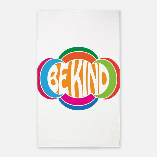 Be Good Be Kind Retro Design Area Rug