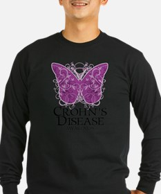 Crohn's Disease Butterfly Long Sleeve T-Shirt