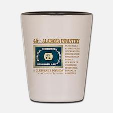 45th Alabama (BH2) Shot Glass