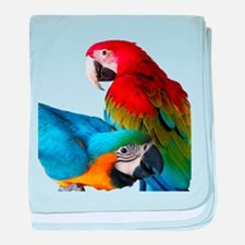 2 Macaws baby blanket