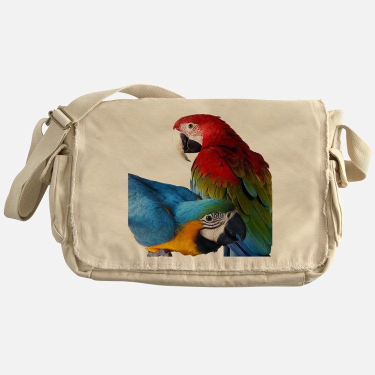2 Macaws Messenger Bag