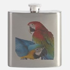 2 Macaws Flask