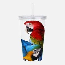 2 Macaws Acrylic Double-wall Tumbler